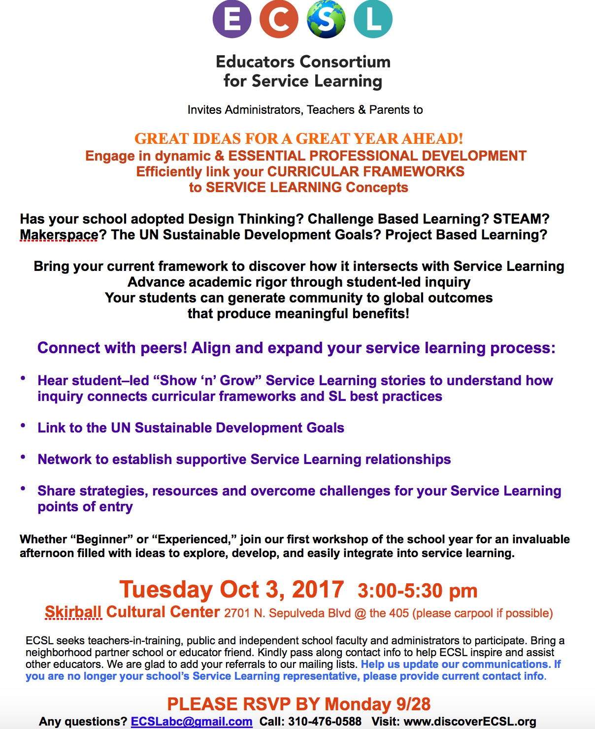 service learning news | discover ecsl