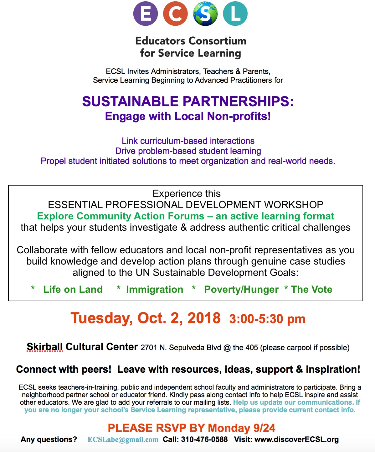 Service Learning Resources | Discover ECSL